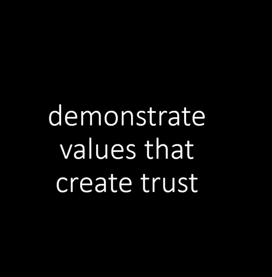 64% of people gauge trust from shared values