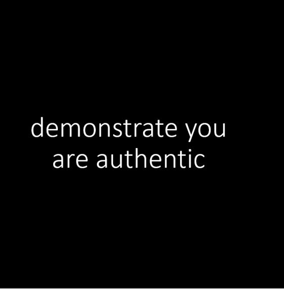 94% of consumers trust authenticity