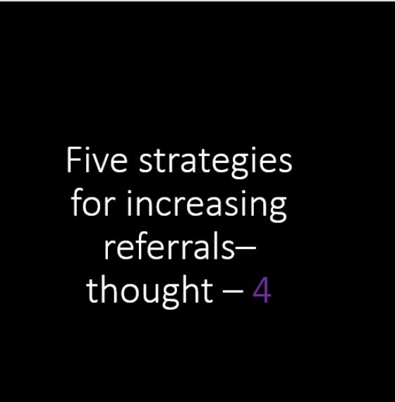 83% trust referral advertising