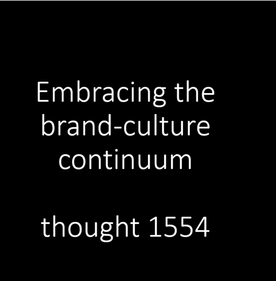 Live your brand – or you will have no brand