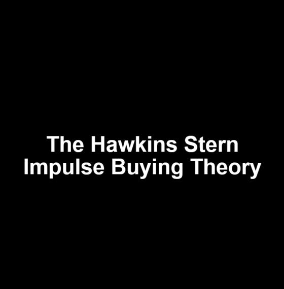 HAWKINS STERN IMPULSE BUYING THEORY